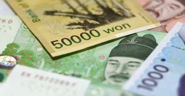 Won sud corea KRW